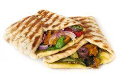wrap vegetariano Tapas, Veggies, Pasta, Diet, Health, Ethnic Recipes, Tortillas, Food, Carne