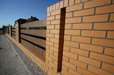 Ogrodzenie klinkierowe Stairs, Fences, Home Decor, Block Wall, Walls, Picket Fences, Stairway, Decoration Home, Staircases
