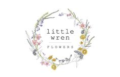 "logo design ""Little Wren Flowers"""