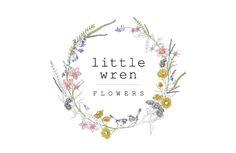 "Logo inspiration for florists and gardeners. logo design ""Little Wren Flowers"""
