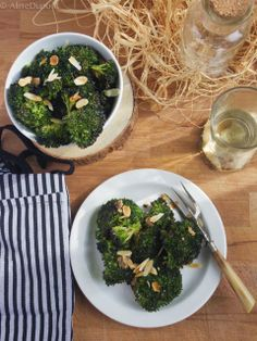 Roasted brocoli and anchovy Lime Cream, Palak Paneer, Broccoli, Roast, Vegetables, Ethnic Recipes, Food, Essen, Vegetable Recipes