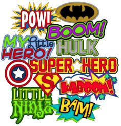 Super Hero Titles - Treasure Box Designs Patterns & Cutting Files (SVG,WPC,GSD,DXF,AI,JPEG)