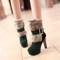 m.lovelywholesale.com wholesale-fashion+winter+round+toe+slip+on+buckle+chunky+super+high+heel+green+pu+short+martin+boots-g144172.html