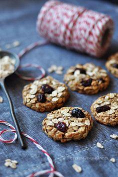 Czekoladą utkane: Dietetyczne ciasteczka owsiane z bananem i żurawiną (bez mąki i masła) Cookies, Crack Crackers, Biscuits, Cookie Recipes, Cookie, Biscuit