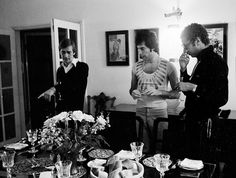 "fuckyeahmercury: "" Freddie hosting a dinner party for his friends, among them Peter Straker and Paul Prenter, at his flat in Kensington which he shared with his partner at the time, Mary..."