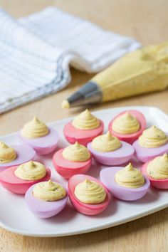Naturally Dyed Deviled Eggs - The Kitchenthusiast