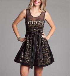 Sandy-Black/Gold Prom Dresses