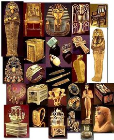 Objetos de la tumba