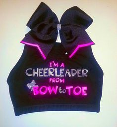 Matching sports bra and bow