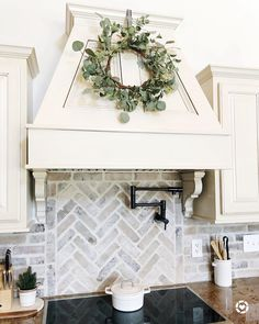"""Jennifer on Instagram: """"I'm a little late to the game but I cooked in our air fryer tonight for the first time and I was so impressed 💯 #LTKunder50 #LTKhome…"""" Farmhouse Kitchen Decor, Kitchen Redo, Farmhouse Design, Home Decor Kitchen, Home Kitchens, Kitchen Sinks, Brick Backsplash White Cabinets, Kitchen Backsplash White Cabinets, Farm House Kitchen Ideas"""