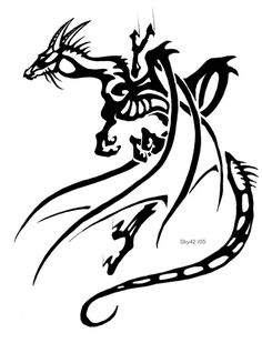 I like this concept a lot. The dragon appears to be clinging. If only it wasn't tribal and was detailed...