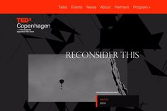 TEDxCopenhagen - Ideas worth spreading | DRAWWWERS #webdesign