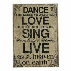 Heaven on Earth Wall Plaque