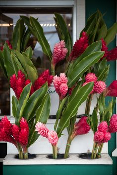 Ginger #flowers sold outside of Kalapuwai Market on Oahu, #Hawaii—one of the world's most romantic islands.