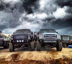 2 beautiful Ford Fords Truck Trucks