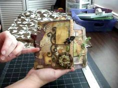Steampunk envelope mini-book by cnfnsofascrapaholic (Love her last page)