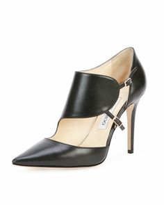 Heath+Leather+Monk-Strap+Pump,+Black+by+Jimmy+Choo+at+Neiman+Marcus.