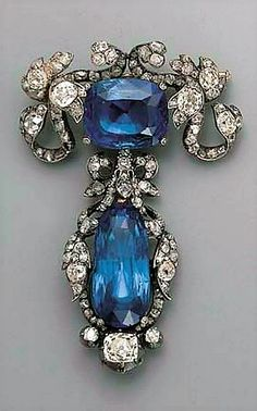 ANTIQUE SAPPHIRE AND DIAMOND BROOCH, 1870  Christie's