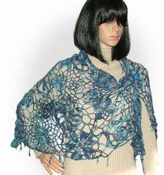 Sommer Schal wickeln Sie stahlen Beaded Crochet von rensfibreart