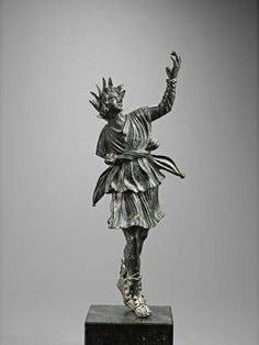 A Roman bronze figure of dancing Lar. Circa 1st Century B.C./A.D.✖️More Pins Like This One At FOSTERGINGER @ Pinterest✖️