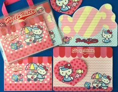 "119 Likes, 19 Comments - Lindy Mojica (Puerto Rico) (@linlan_kitty_land) on Instagram: ""Hello Kitty Letter Set with vinyl bag (2004) 🍬🍭🍧 Christmas gift from my sister Michelle…"""