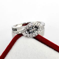 Find More Rings Information about Big Sale New Silver Plated Woman Lady's Ring with Black and White Simulated Diamond Ring for Lover's Engagement Gift Ulove Y004,High Quality ring clock,China ring old Suppliers, Cheap ring honey from Ulovestore Fashion Jewelry on Aliexpress.com