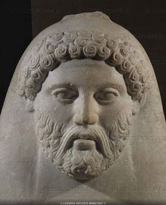 Anthropoid sarcophagus; portrait of a bearded man. 5th-4th BCE. From the royal necropolis in Sidon, Lebanon.   Phoenician culture  Louvre Museum