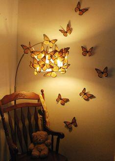 Mega Monarchs 7 inch Wingspan - Set of 20 Mega Monarchs 7 pollici Wingspan - Set di 20 Bedroom Lamps, Room Ideas Bedroom, Bedroom Decor, Fairy Bedroom, Cute Room Decor, Unique Wall Decor, Quirky Decor, Aesthetic Room Decor, Dream Rooms
