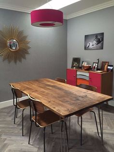 This is our Wide range at 90 cm wide which are designed for average rooms. For smaller spaces and computer desks we do a Slim range at 68cm wide. Hand made by us from quality new, used and reclaimed timber, this table will look great in any kitchen or office. | eBay!