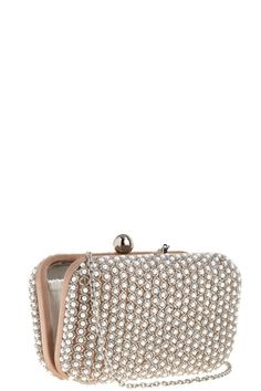 Pearly Clutch with silver seed beads. Dress up any outfit!