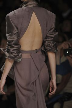 Haider Ackermann...the fine pleating in the shoulders, the draping at the skirt, the open back...ah!