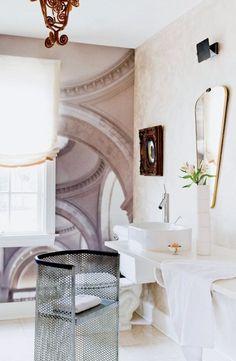 Tour a Designer's Own Luxe, Eclectic Virginia Home via @domainehome