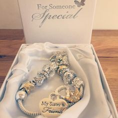 Need a #christmas #present for your #sister? Our gorgeous bracelets are just the gift! Classy elegant full of charms and come boxed  Available here: http://ift.tt/1PXzQIB and for a limited period  buy 2 get 10% off or buy 3 & get 15% off! #wedding #brides #weddinginspiration #weddingday #guestbook #lace #ribbon #diy #vintage #classic #shabbychic # #bespoke #unique #individual #crafty #craft #weddingday #love #personalised #engaged #gettingmarried #newlyengaged