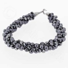Kumihimo Bracelet - Hematite  You must have a go at these bracelets, they are so easy to make and very pretty. They come with full instructions for you to use. I am sure all your friends will be asking you to make one, but don't tell them it only cost £4.99