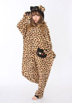 Kigurumi Costume - Hello Kitty Leopard ...