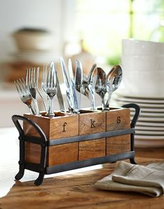 Cutlery holder for on the table (holidays, family gatherings, having friends over)