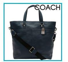 Coach Men's Leather Pebble tote