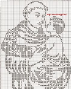 sant'Antonio da Padova punto croce filet | Hobby lavori femminili - ricamo - uncinetto - maglia