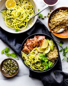 These Honey BBQ Baked Salmon Bowls are the perfect meal prep recipe for a make ahead lunch or quick dinner. Protein Packed, Gluten Free, and Dairy Free. A healthy meal prep meal ready in 30 minutes! Easy Meal Prep, Healthy Meal Prep, Healthy Food, Healthy Eating, Clean Eating, Dinner Recipes For Kids, Healthy Dinner Recipes, Healthy Dinners, Summer Recipes