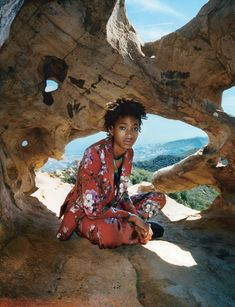 willow smith: fluorescent adolescent | read | i-D. Jacket and trousers Gucci. Top House of Liza.  What are the themes that recur in your writing?  Specifically for F Q-C #7, I wanted to really portray what my everyday life is like and how I'm always in nature, climbing trees and jumping in creeks. Literally, that's my everyday. The only real pattern in my music that I speak about all the time is frequency and vibes and stuff. Other than that, nothing I talk about is very permanent. When I…