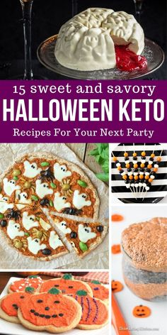 15 Sweet and Savory Keto Halloween Recipes! The perfect Keto Party Recipes and Snack Ideas! halloween snacks Sweet and Savory keto Halloween Recipes! No Cook Appetizers, Halloween Appetizers, Halloween Desserts, Halloween Treats, Halloween Foods, Healthy Halloween, Halloween 2020, Halloween Baking, Halloween Food For Party