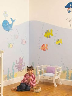 Undersea Adventure Room Makeover Kit - Giant Wall Stickers - £39.95
