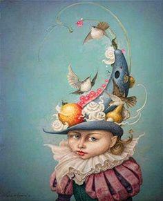 """All Dressed Up"" ~ Daniel Merriam ~ Watercolorist Extraordinaire ~ Miks' Pics ""Daniel Merriam ll"" board @ http://www.pinterest.com/msmgish/daniel-merriam-ll/"