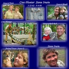 Steve Irwin Day - 15 November We lost an amazing soul when this man died. I sure do miss the Croocdile Hunter, Steve Irwin. Steve Irwin Day, Terri Irwin, Irwin Family, Crocodile Hunter, Bindi Irwin, The Incredibles, Celebs, Reptiles, Life