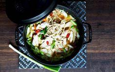 Nudelsuppe med kylling, ingefær og chili kan skræmme enhver forkølelse væk!