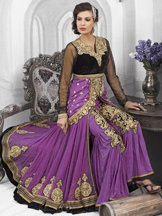 Purple Color Designer Anarkali Suit 1005NZ