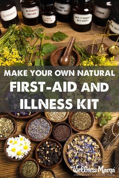 How to make your own natural herbal medicine chest and first aid kit with natural remedies, supplements and herbs to handle most minor injuries and illnesses.