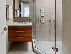 Туалетный столик в дизайне маленькой ванной