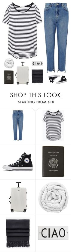 """""""Where we going?"""" by genesis129 ❤ liked on Polyvore featuring Miss Selfridge, Zara, Converse, Smythson, Rimowa, Brinkhaus, Acne Studios and Rosanna"""