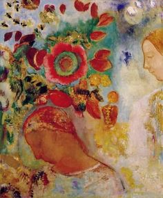 Odilon Redon (born April Bordeaux, France - died July Paris) French Symbolist painter, lithographer and etcher of considerable poetic sensitivity and imagination, whose work developed along two divergent lines. Art Pierre, Odilon Redon, Girls With Flowers, Art Moderne, Klimt, Museum Of Fine Arts, French Artists, Matisse, Painting Inspiration